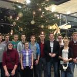 Vertreter des Schülerrates aus dem Landkreis Sächsische Schweiz - Osterzgebirge zum Gespräch mit Oliver Wehner MdL im Sächsischen Landtag